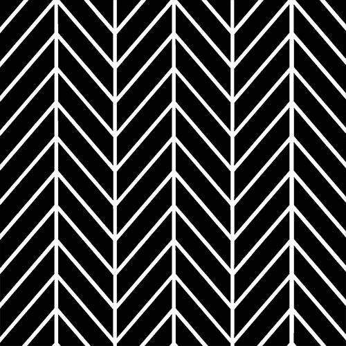 Black Herringbone Mosaic Tiles