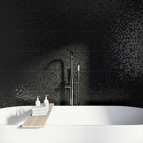 Black Pressed Mosaic Tiles