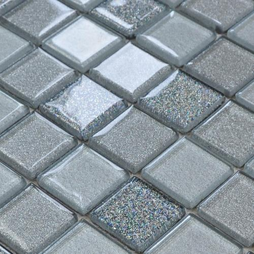 Grey Glass Mosaic Tiles