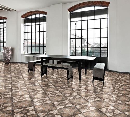 Patterned Matte Ceramic Floor Tiles