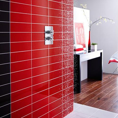 Red Gloss Porcelain Wall Tiles