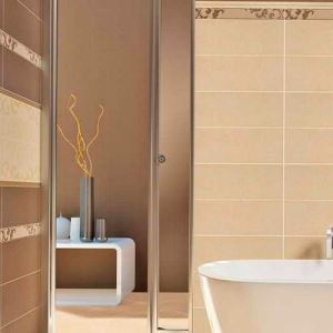 Beige Polished Ceramic Wall Tiles
