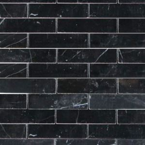 Black Strip Mosaic Tiles