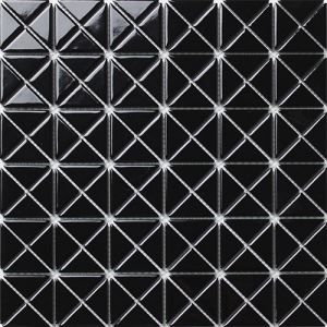 Black Triangle Mosaic Tiles