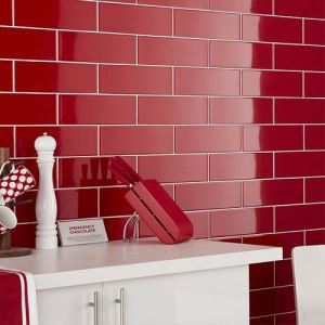 Red Gloss Ceramic Wall Tiles