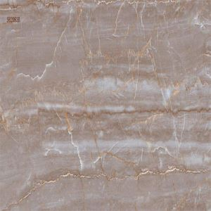 Brown Marble-Look Wall Procelain Tile
